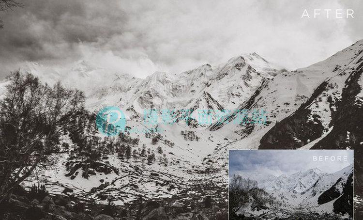 风景摄影后期Lightroom预设 Lovely Landscapes LR Presets