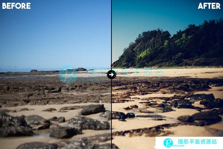 海滩沙滩风光Lightroom预设+ACR预设