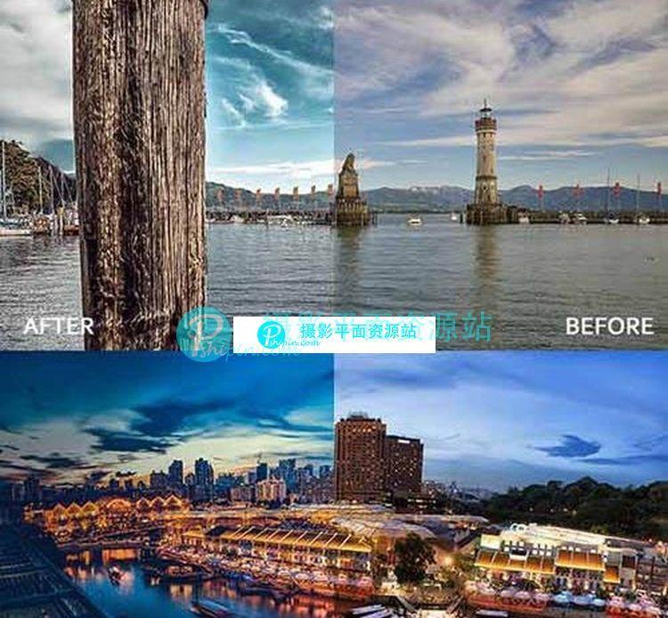 20城市景观风景lightroom预设